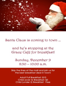 2018 Breakfast with Santa Poster
