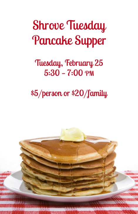 2020 Grace Shrove Tuesday Poster